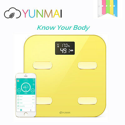 YUNMAI Smart Body Fat Analyser Scale Monitor BMI Bathroom Weighing LCD Scale APP