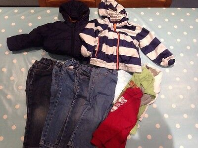 2-3 Years Boys Bundle, Next, M&S, Gap & others Coats, Jeans, Tops, 9 items
