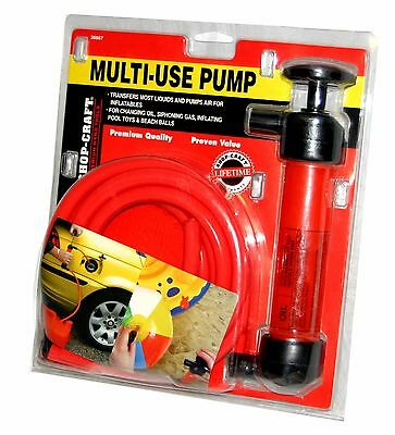 Shop Craft Multi Use Siphon Extraction Pump Oil Change Gas Transmission Radiator