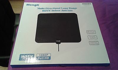 Indoor TV Aerial Digital HDTV Antenna with Amplifier for Digital Freeview BNIB