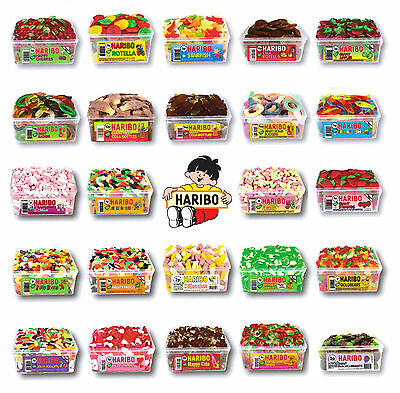 2 Full Tubs Of Haribo Sweets   Party Bag Filler, Wedding Candy Carts Retro Sweet