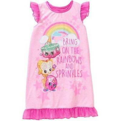 Shopkins Pajamas Nightgown Size 4/5 6/6X 7/8 10/12 New!