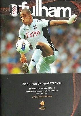 Fulham V/s Dnipro Dnipropetrovsk Unread Matchday Programme 18.08.2011