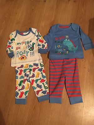 BNWOT Baby Boys Set Of 2 Pyjamas From Mothercare 0-3 Months