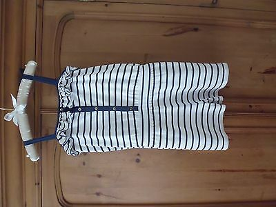 Girls Navy White Nautical Shorts All In One Jumpsuit Playsuit Age 12 13 14 15