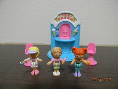 Polly Pocket Ice Cream Fun Stand Complete - Vintage Bluebird 1995