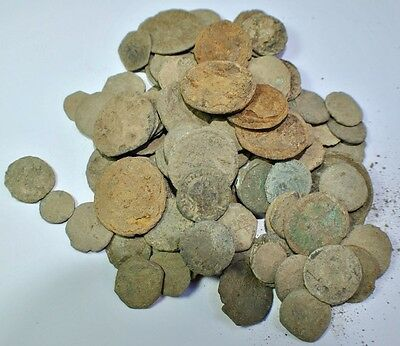 Lot of 110 Roman Bronze Coins (uncleaned).r
