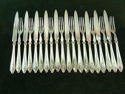 Vintage 10 setting James Dixon Fruit pastry set EPNS Silver Plated