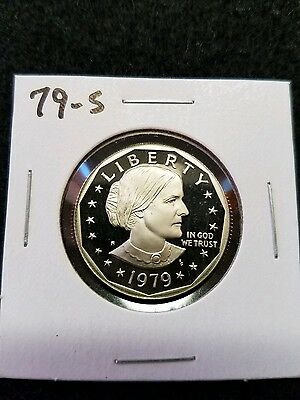 1979-S  Us Cameo Proof Susan B Anthony Dollar,,,from Us Proof Set