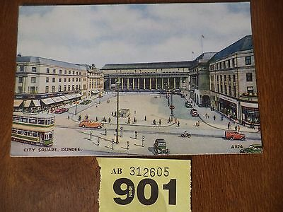 Vintage Photographic Postcard - City Square, Dundee Scotland