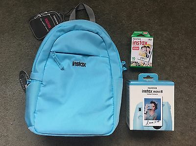 Instax Instant Mini 8 Mint Polaroid Camera Pack Backpack & Accessories Bundle