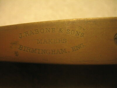 """Vintage Tool J.Rabone & Sons Makers Spirit Level Timber & Brass 9"""" Collectible"""