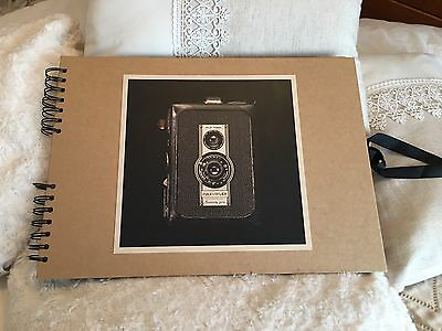 Paperchase Blank Black Page Photo Picture Album Scrap Book Brand New