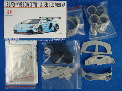 HOBBY DESIGN HD03-0360 1/24 LB LP700 Wide Body Detail-up Sets for AOSHIMA