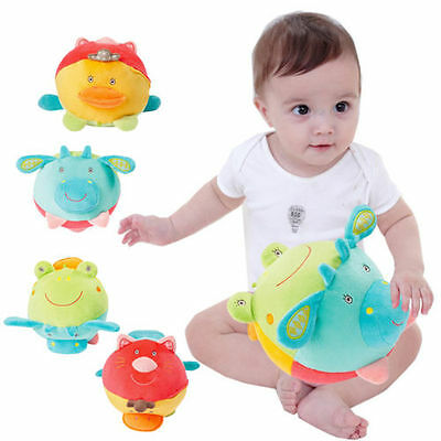 Soft Baby Ball Bell Hand Grasp Music Sense Educational Plush Colorful Toys Game