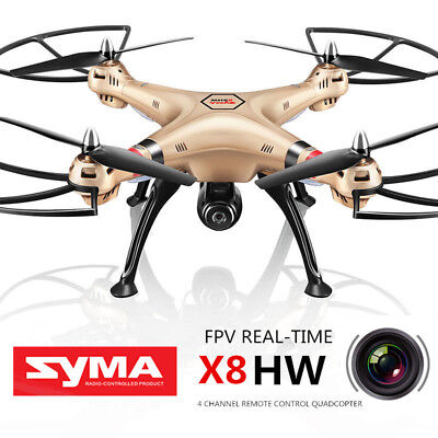 Syma X8HW 2.4G HD Wifi Camera RC Drone Headless LED Light  RC Quadcopter UAV RTF