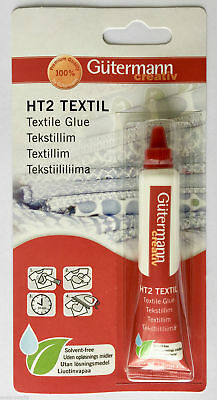 Gutermann Sewing HT2 Textile Fabric Glue 20g Solvent-Free Wash & Dry Clean Craft
