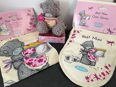 Me To You Tatty Teddy Bear Best Mum Set, T-Towel Oven Gloves + Free Mothers Card