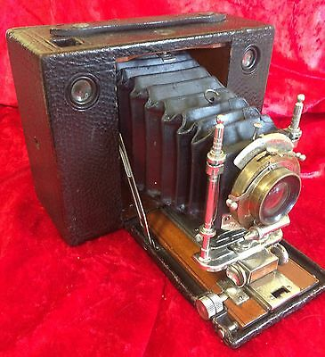 Antique Vintage Eastman Kodak Folding Camera Rare Collectable Brass Lens 1900 ?