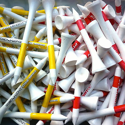 40 X Pride Professional Golf Tee System  RED/WHITE & YELLOW/WHITE MIX-COLOURS