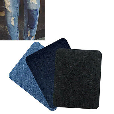 2X Iron-on Elbow Knee Repair Decorative Denim Jeans Patches Sewings Applique