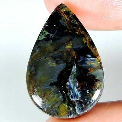 11.35cts 100% NATURAL WONDERFUL QUALITY PIETERSITE PEAR CABOCHON TOP GEMSTONE