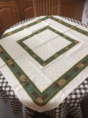 Celtic Linen Table Cloth Approx 3' Square