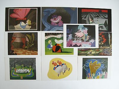 Collection of 10 Disney Alice in Wonderland Postcards A368
