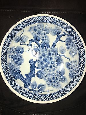 antique Chinese   dynasty period blue / white bowl blossom tree
