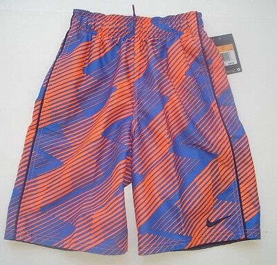 NWT Boy 8 / S - Nike Swim Suit Trunks - Blue Orange