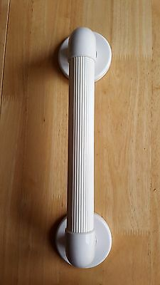 Plastic Fluted Ribbed Grab Bar 12 inch. Bathroom Safety Disability Aid Rail