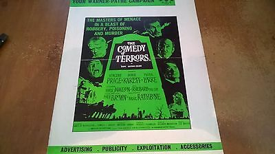 The Comedy of Terrors Original  UK Press book