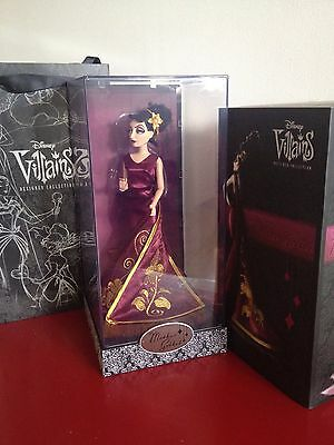 Limited Edition Disney Mother Gothel Designer Doll / Villains. New With Gift Bag