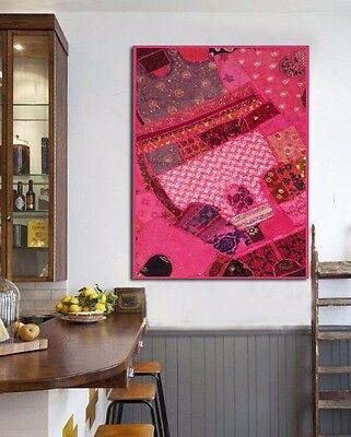 "60"" Trendy Indian Home Décor Patchwork Wall Table Vintage Throw Tapestry Hanging"