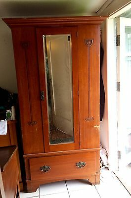 Antique Small Wardrobe With Mirror