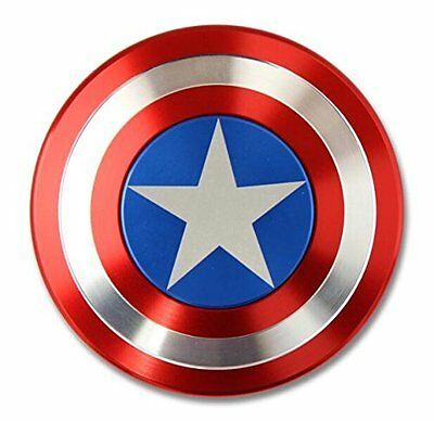 Hand Fidget Finger Spinner ADHD Focus Toy For Kids Adults Captain America Shield