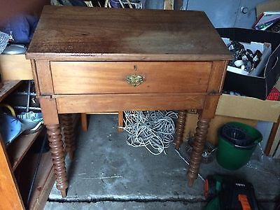Antique Tall Desk With Drawer