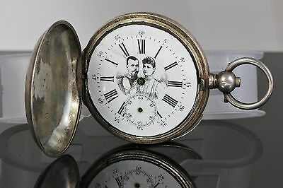 Antique Russian Silver Imperial Award Pocket Watch Tsar Nicholas II and Empress