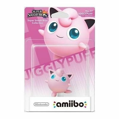 JIGGLYPUFF Jiggly  Amiibo No 37 BNIB  NEW Super Smash Bros collection - Amiibos