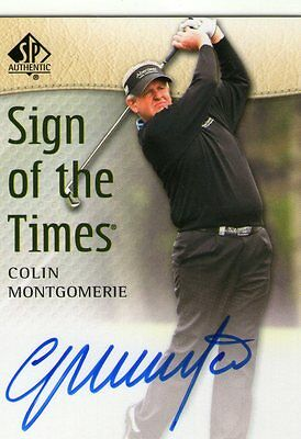Colin Montgomerie 2014 Upper Deck SP Authentic Sign of the Times Autograph Auto