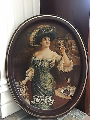 """RARE VINTAGE ORIGINAL 1909 PEPSI : COLA GIBSON Girl Tip Tray Is 13"""" by 11""""."""