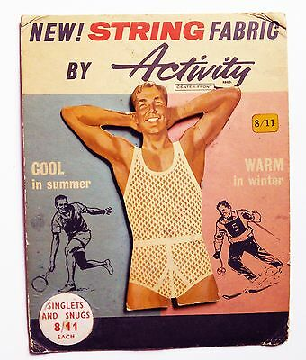 VINTAGE Stand-Up Advertising Store Sign Men's String Underwear -- LGBT Erotica