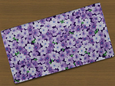 Checkbook Covers Fabric Violets Floral Pansies Flowers Handmade