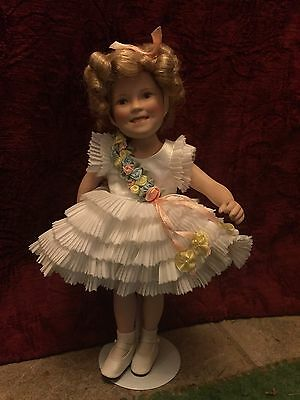 Danbury Mint Shirley Temple BABY TAKE A BOW Porcelain Elke Hutchens Doll c1998
