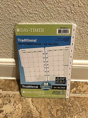 Day-Timer Planner Refill 2018 Size 4 Jan Dec Monthly Traditional White Tabbed 7
