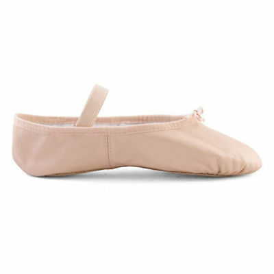 Bloch Pink Leather Ballet Shoes - Size 8B