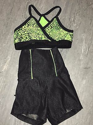 California Kisses Girls XS High Waisted Shorts and Top Dance Outfit