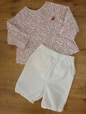 Sergent Major*Obaïbi**Ensemble Blouse et pantalon 12 mois 74 cm Blanc rouge