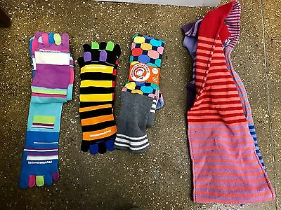 LittleMissMatched 8 socks – 1 Scarf – Brand New (one size fits most)