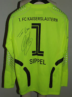 MAGLIA CALCIO SHIRT TRIKOT MAILLOT G.KEEPER KAISERSLAUTERN SIPPEL 1 SIGNED tg M